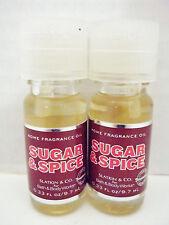 Bath Body Works Slatkin Sugar Spice Home Fragrance Oil, NEW  x 2