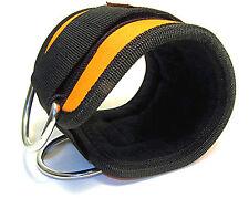 Professionnel sangle de cheville noir/orange néoprène (unique) pour machines de sport