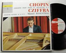 CHOPIN Concerto No.1-CZIFFRA / ROSENTHAL -FRENCH Orig MONO LP PHILIPS L 02.301 L