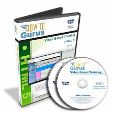New Learn HTML 5 Code Web Design - Tutorial Training 11 hrs 124 videos on 2 DVDs