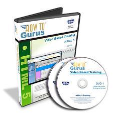 How To Gurus HTML 5 Code Web Design Tutorial Training 11 hrs 124 videos 2 DVDs