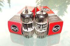 Pair RCA 5814 A / 12AU7 A / E82CC, 3mica black plate square getter NOS tubes