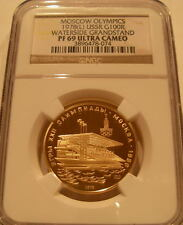 Russia 1978L Gold 100 Roubles NGC PF-69UC Moscow Olympics - Waterside Grandstand