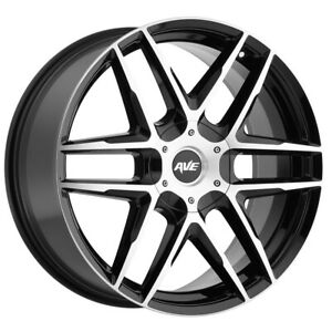 "Avenue A613 22x9 5x115/5x120 +18mm Black/Machined Wheel Rim 22"" Inch"