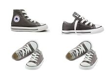 Infants Boys Girls Converse Ct All Star Hi Canvas Trainers 12 Colours Youth 2-2 Charcoal UK 2 Infant