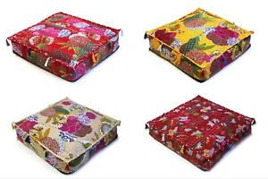Indian Floral Kantha Floor Dog Pet Beds Cushion Cover Home Décor All Of Sizes UK