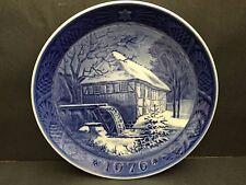 Copenhagen Blue Plate 1976 Water Mill