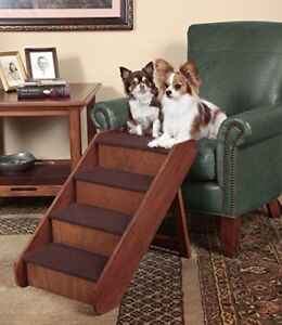 Foldable Wooden Pet Ladder Dog Cat Puppy Stairs Portable Steps Bed Sofa Couch