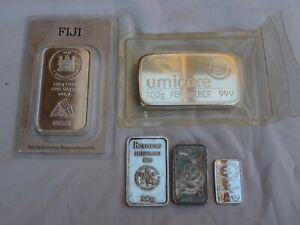 Lot 2 x 100 gramm 2 x 20 1 x 5 g gr Silberbarren silber barren silver bar fiji