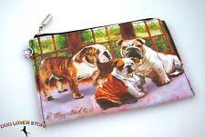 Bulldog Dog Bag Zippered Pouch Travel Makeup Coin Purse