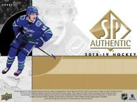 2018-19 SP Authentic Hockey Cards (Base Short Prints and Rookies) Pick From List