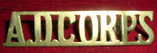 SHOULDER TITLES-1921-1926 ARMY DENTAL CORPS 'A.D.CORPS'
