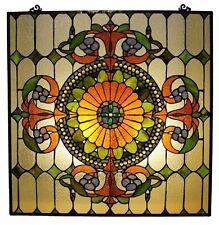 Chloe Lighting Tiffany Style Victorian Window Panel Iris CH1P511CV25-GPN