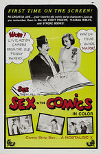 SEX IN THE COMICS Movie POSTER 27x40 Reggie Balls Bella Bush Rick Cassidy Orita