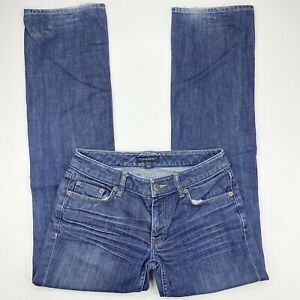 BANANA REPUBLIC Low Rise Boot Cut Medium Wash Whiskered Jeans Women's Size 0
