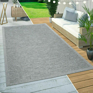 Braided Outdoor Rugs Grey Solid Patio Kitchen Rug Flat Woven Terrace Large Mats