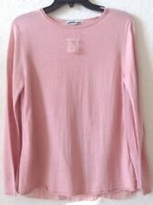 Womens SMALL Knit Top/Sweater Pink CLEO Petites Acrylic/Rayon S/S NWT