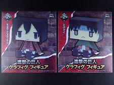 Attack on Titan Shingeki no Kyojin Graphig Figure set of 2 Sega Mikasa Levi New
