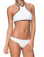 Lovely Quality Stylish Neoprene Swimsuit Tankini Bikini Black & White Size 12-14