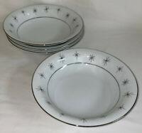 "4 Zylstra China *CELESTIAL STARS* 7 1/4"" CEREAL BOWLS MCM"