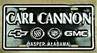 "CARL CANNOR JASPER ALABAMA"" METAL FRONT NOVELTY LICENSE PLATE CAR TAG ITEM #1995"