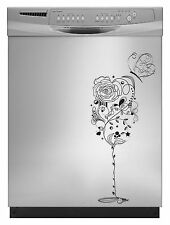 Wine Glass Decal Sticker for Dishwasher Refrigerator Washing Machine Stove Dorm