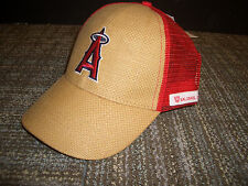 Los Angeles Angels Anaheim Baseball hat Straw weave trucker cap 66ers give away