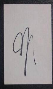 Ali Abdelaziz (Khabib Nurmagomedov Manager) Signed Auto Autograph 3x5 Index Card