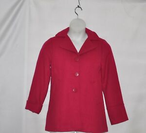 Joan Rivers Button Front Texture Jacket Size 3X Raspberry