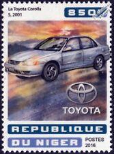 2001 TOYOTA COROLLA S Classic Car Stamp (2016 Niger)