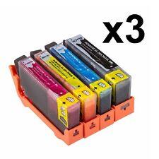 12 cartuchos GEN Impresora chip for 364 XL Photosmart b010a Deskjet 3070a 3520