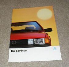 Volkswagen VW Scirocco Brochure 1988 - 1.8 GT & 1.8 Scala Injection