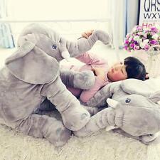 Long Nose Elephant Pillow Doll Soft Plush Stuff Toys Pillow Lumbar Kids Baby /