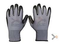 Work,Construction Gloves. Microfoam Nitrile grip, Contractor,12 pack. Large