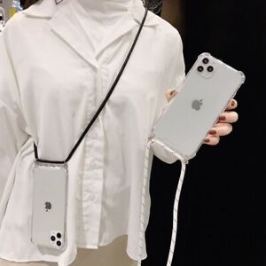 Cross Body Clear Case Neck Lanyard For iPhone 12 Pro Max 11 XS XR 8 7 Plus SE