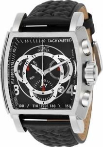 Invicta S1 Rally 27919 Men's Black Torneau Analog Chronograph Date Leather Watch