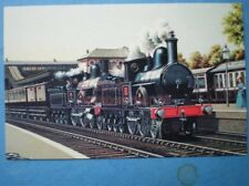 POSTCARD LNWR WEBB 4-4-0 PILOTED BY PRECEDENT CLASS LOCO AT CHALK FARM STATION