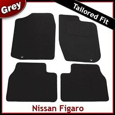 Nissan Figaro Tailored Fitted Carpet Car Mats GREY