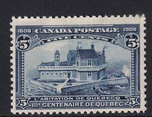 CANADA EDVII SG191, 5c indigo, M MINT. Cat £65.