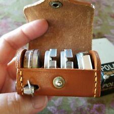 Vintage Polaroid Close Up Lens Kit 540 with Leather Case-Measure Tape-Orig Box