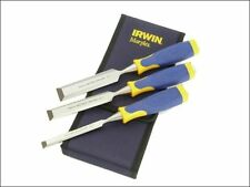 IRWIN MARPLES 3 PIECE BEVEL EDGE CHISEL SET MS500 - IN POUCH - 13,19 AND 25MM