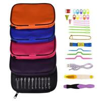 38pcs USB LED Light Rechargeable Crochet Hooks Sewing Needles Set Knitted Tool