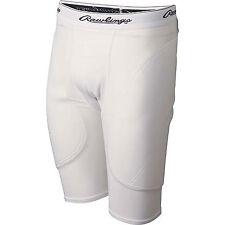 New RAWLINGS Men's White Sliding Short Baseball Softball - Large 36-38 - WALMSS
