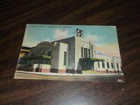 1944  SANTA FE DEPOT OKLAHOMA CITY OKLAHOMA USED LINEN POSTCARD