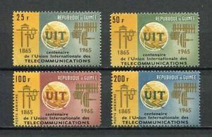 27227) GUINEA 1965 MNH** Nuovi**  UIT 4v