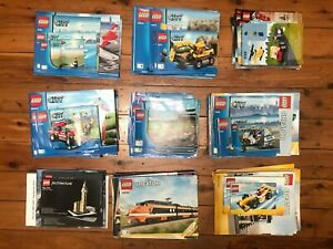 Assorted Individual LEGO City, Creator Instruction Manual Booklets