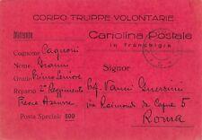 """5034) WW SPAGNA FRANCHIGIA """"CORPO TRUPPE VOLONTARIE """" VG CON P.M. 6."""