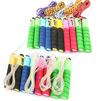Skipping Jump Rope Adjustable with Counter Number Fitness Exercise Workout Gym