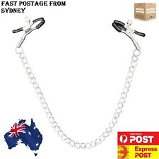 Nipple Genital Chain +Adjustable Clamps Sex Toy Fetish S&M Bondage Set Jewellery