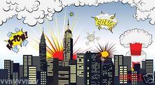 9X6FT Super hero background Thin Vinyl photography backdrop studio props HR01